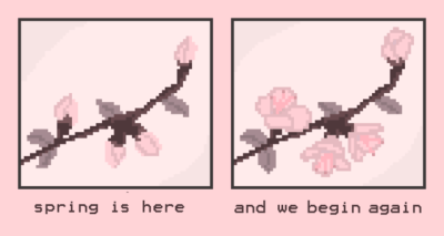 Image result for cherry blossom pixel kawaii