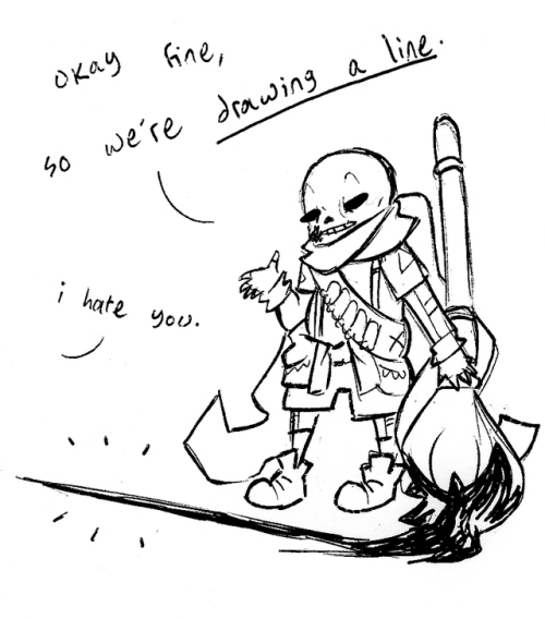 Underverse Sans And Chara
