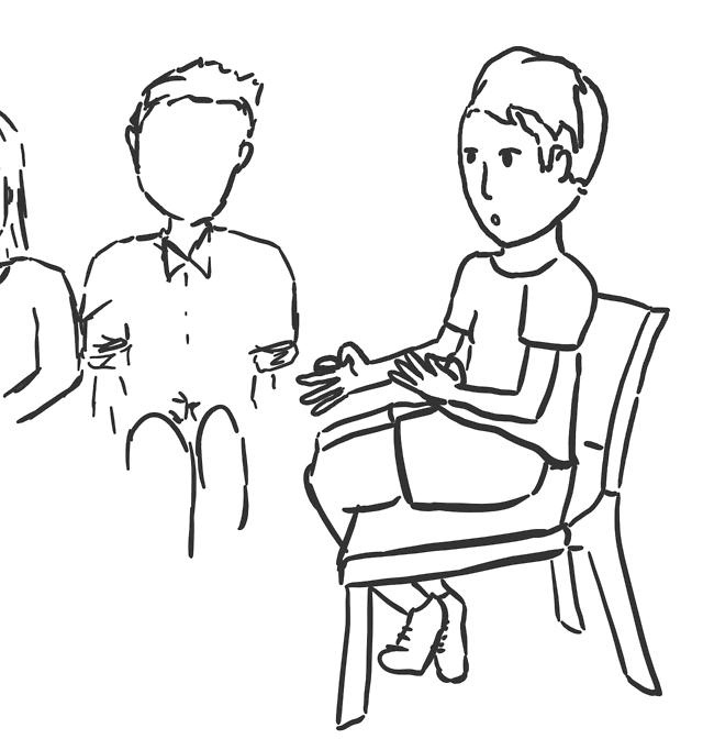 Daisy and Bean — I got to interpret a whole chapel service