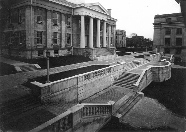 Iowa City Terrace And West Facade Of Capitol