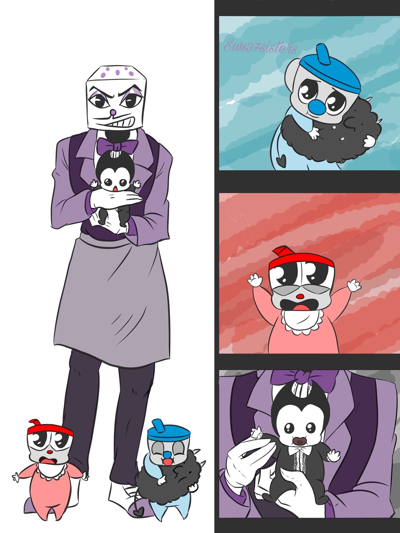 Fan Dylan Bendy Machine And And Ink Bonnie Characters