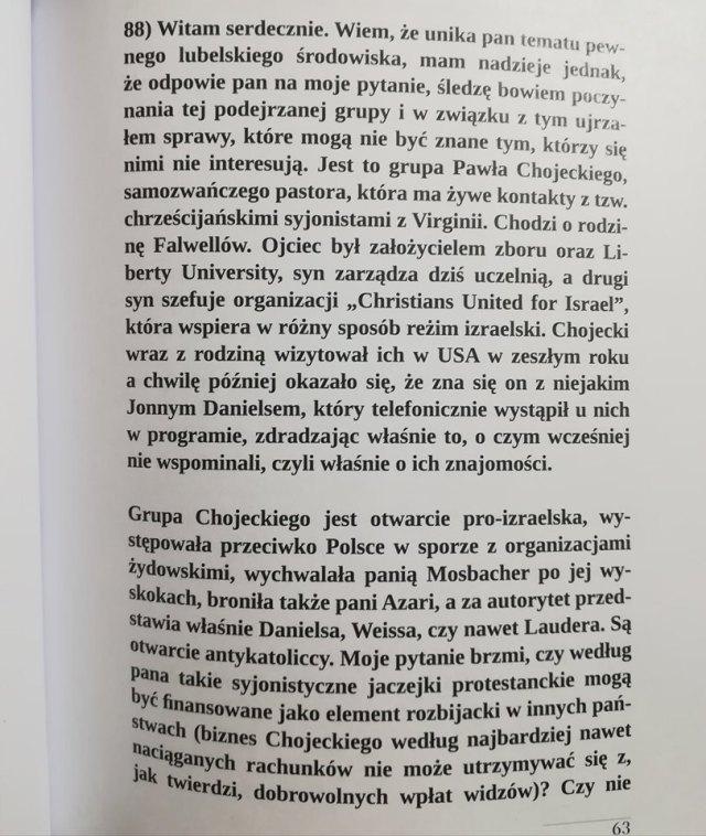 """Pytanie pochodzi z nowej książki """"250 pytań do Stanisława Michalkiewicza."""