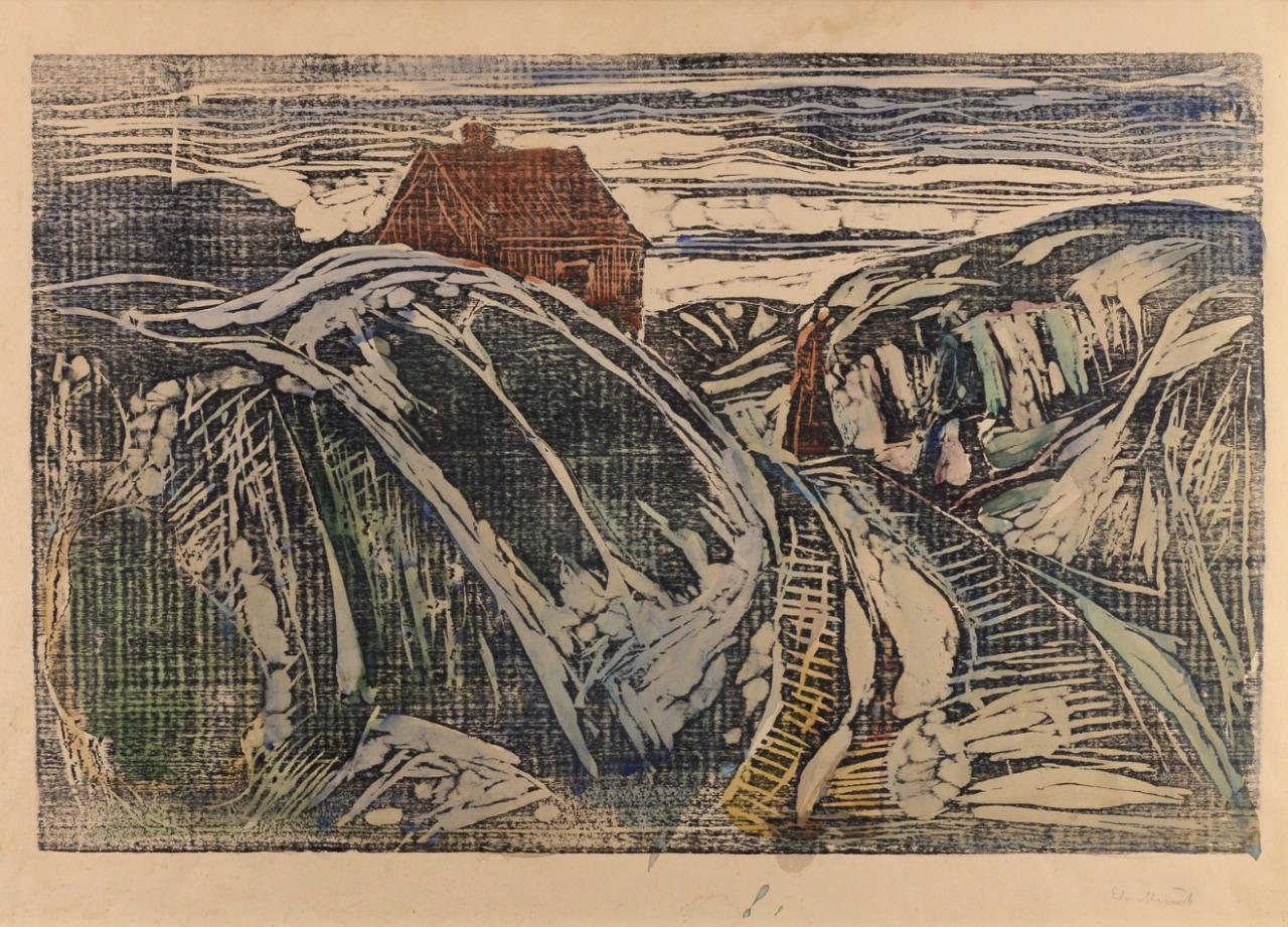 "thusreluctant: "" House on the Coast I by Edvard Munch """