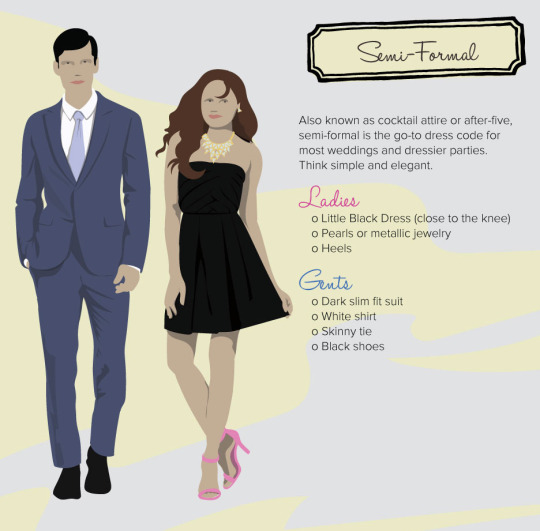 decoding dress code semi-formal