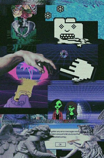 Glitch Wallpaper Iphone X Sfondi Simpson Tumblr Sfondi