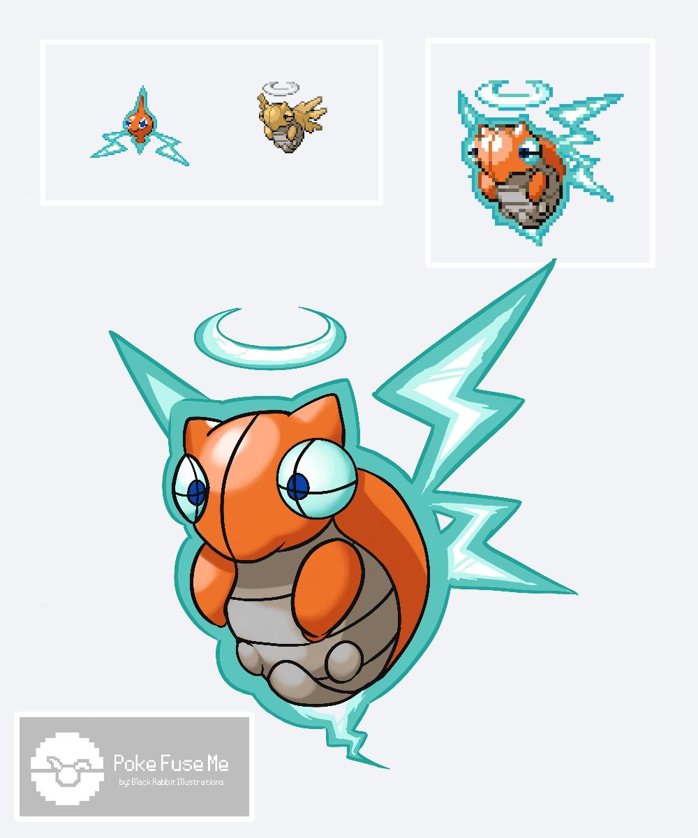 Fusion Pokemon Derpy Art