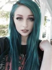 teal and black hair