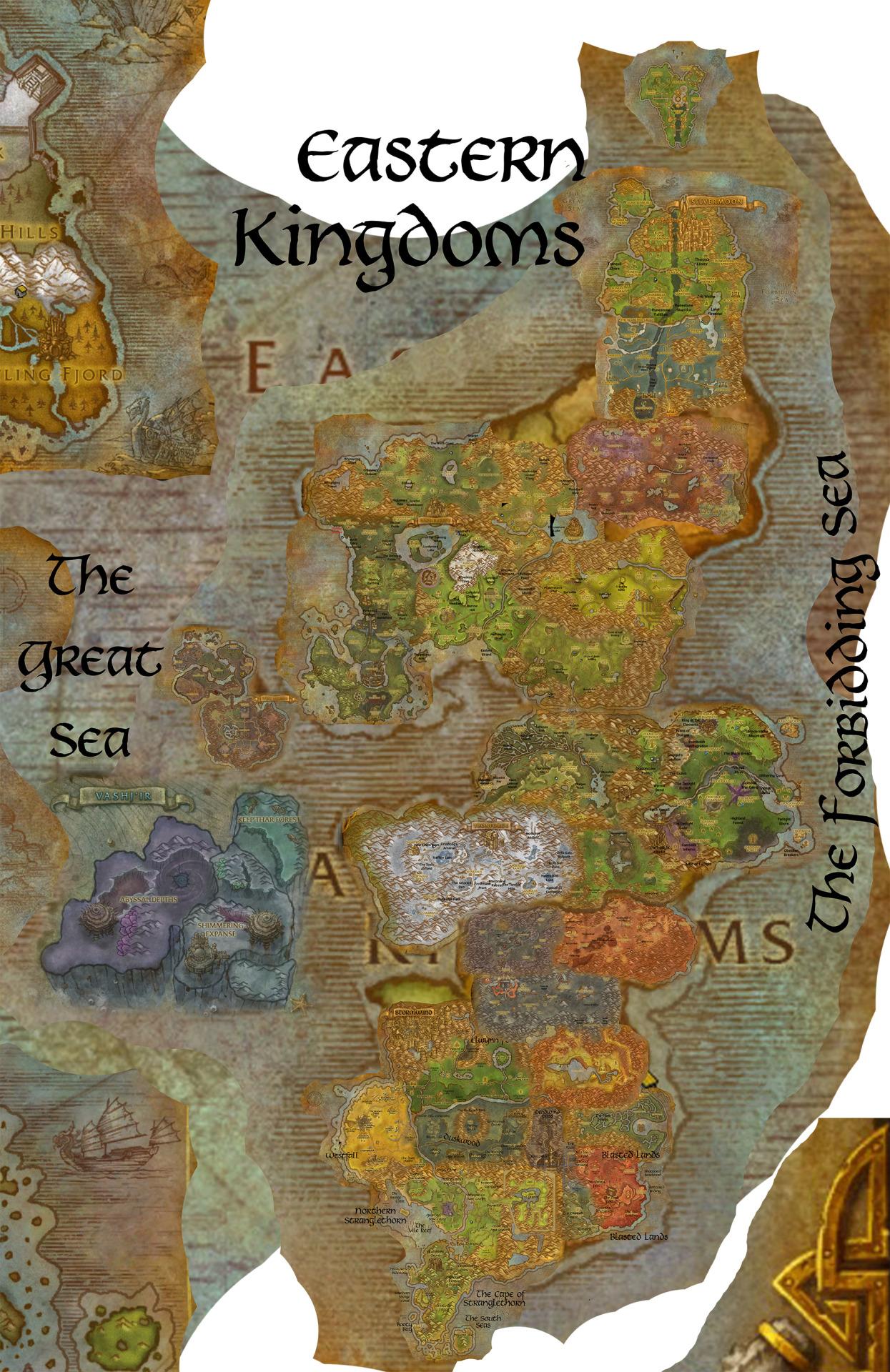 Eastern Kingdoms Map : eastern, kingdoms, World, Warcraft, Eastern, Kingdoms, Atlas