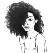 afro drawing