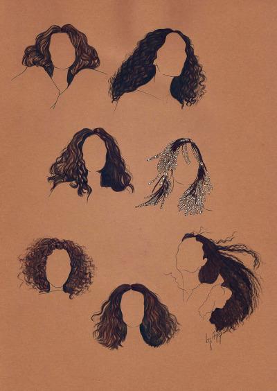 hair drawing tumblr