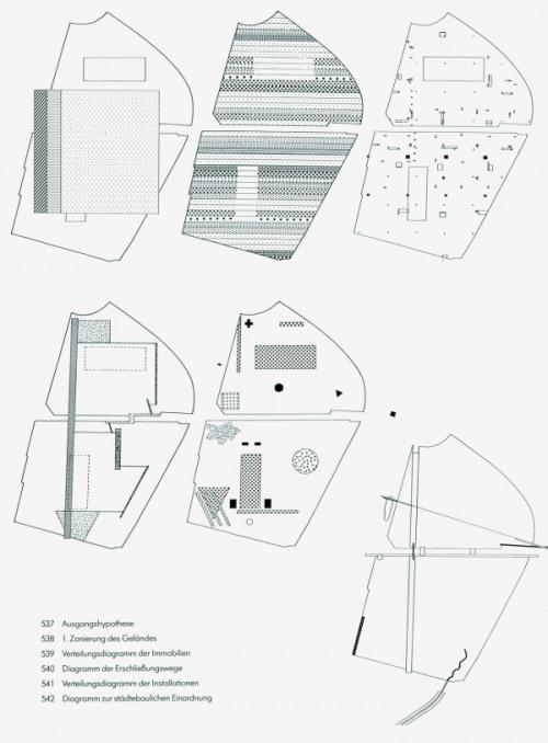 oma parc de la villette diagram sun path for bangalore drawing architecture the unbuilt competition entry from