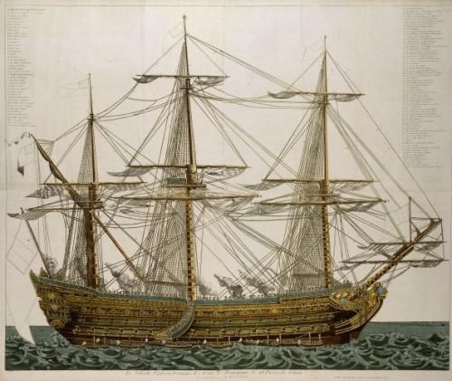 Les vaisseaux trois ponts fran ais du xviiie si cle for Interieur 18eme siecle