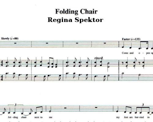 folding chair regina spektor lyrics wheelchair yang bagus reginaholic fuckyeahsheetmusic download