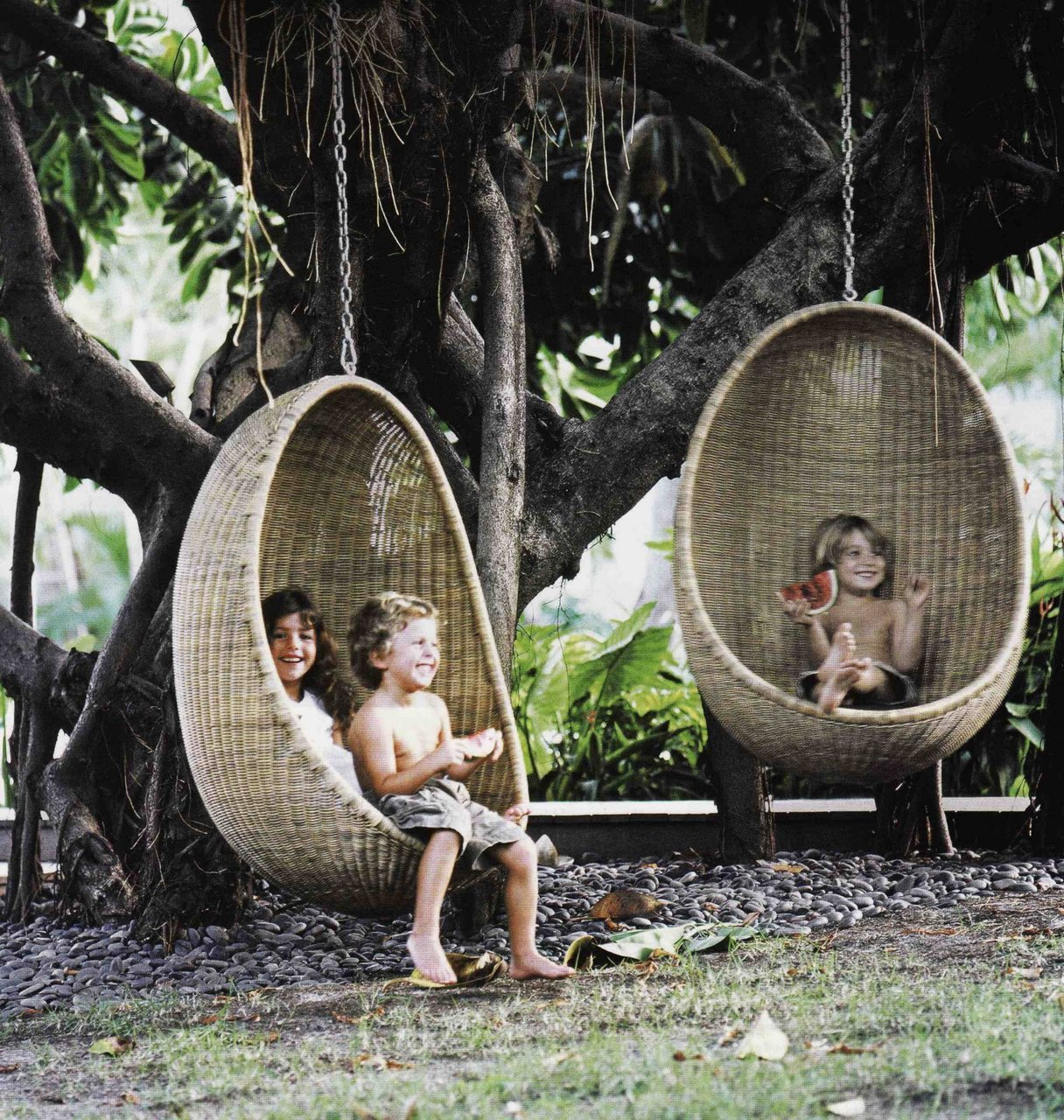 Outdoor Egg Chair Swing Mid Century Interior Design
