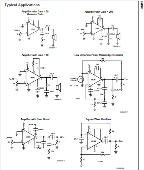 On Reading Datasheets: LM386 The Rest!