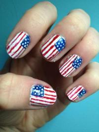american flag nails on Tumblr