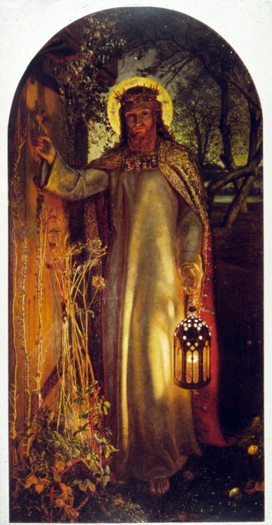 'The Light of The World' painted in 1853 by the pre-Raphaelite artist William Holman Hunt. The painting was one of the most popular of the Victorian era and was reproduced many times, though it caused uproar when it was discovered that the models for...