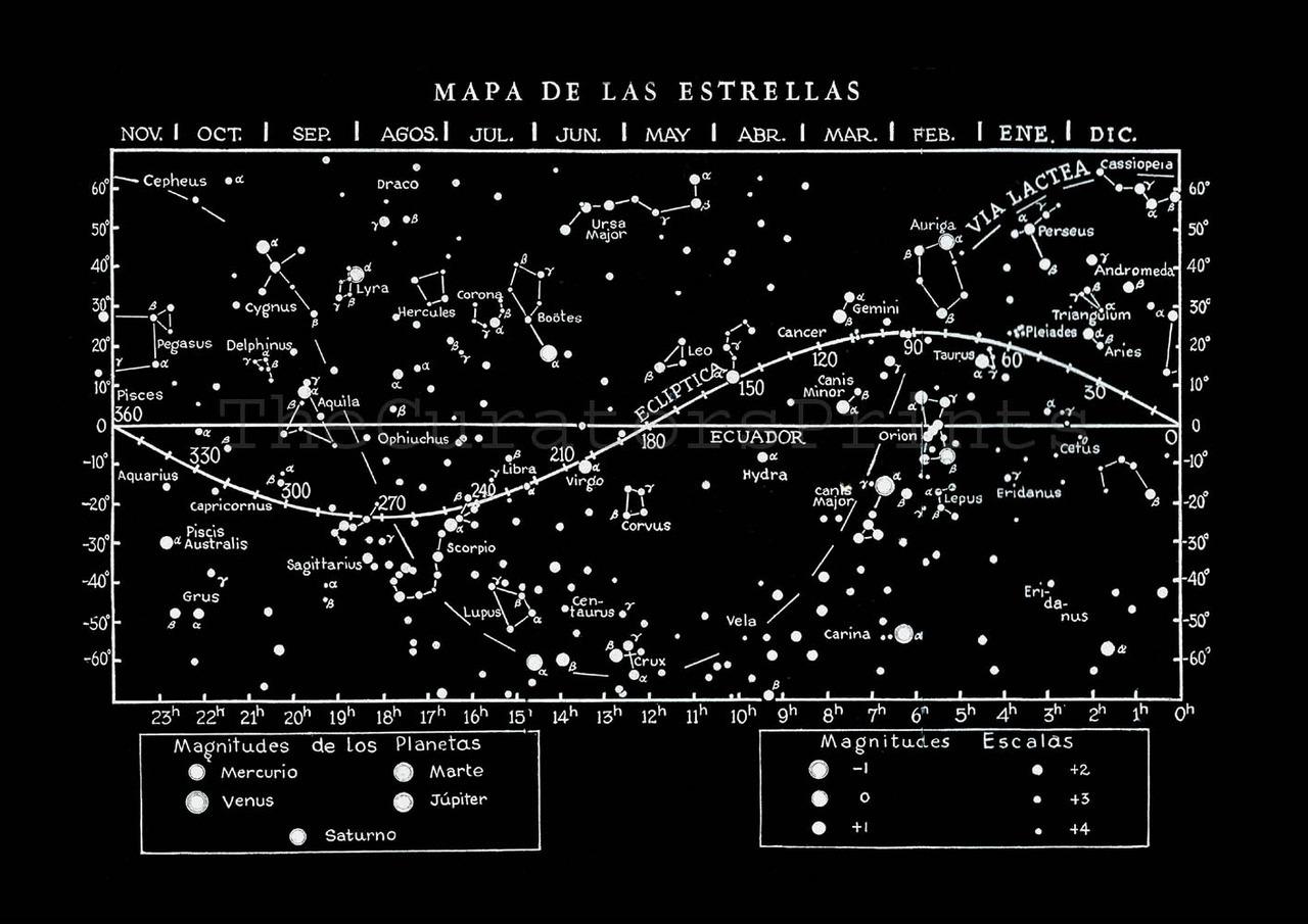 hight resolution of star map constellations celestial ecuador and zodiac