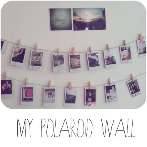 Polaroid Wall On Tumblr