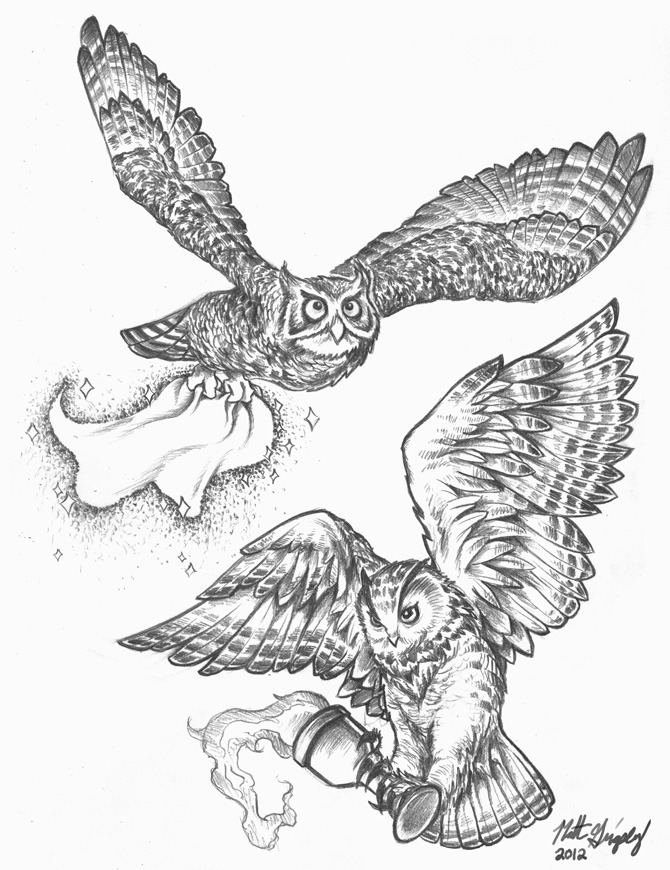 Grigsby's Art Pad : Some tattoo sketches of Harry Potter