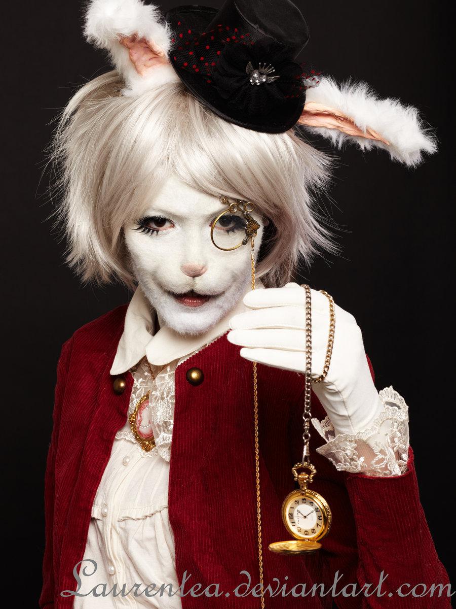 White Rabbit Makeup : white, rabbit, makeup, Alice, Wonderland, Rabbit, Makeup, Quotes