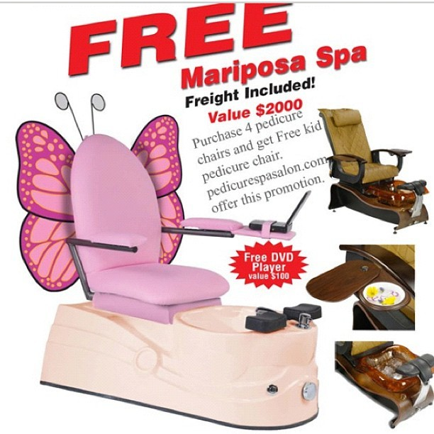 butterfly pedicure chair high back patio cushions uk pedicurespasalon com free kid spa violet kids pink mariposa
