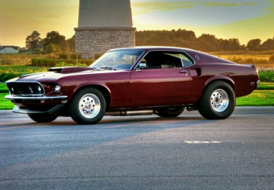 Just Old Mustangs Burgundy Fastback Ford Mustang