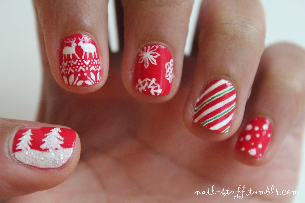 Nail Stuff...?  Christmas nails! Ill post more holiday