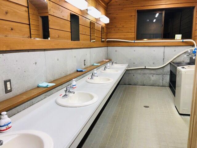 早川町オートキャンプ場洗面所