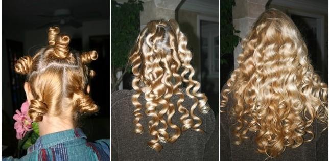 Von glatten Haaren zu extremen Locken  geht das