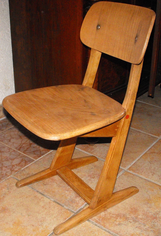 Ddr Kinderstuhl Alt Holzstuhl Designer Chair Stuhl 50er