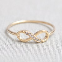 US 5-US 10 Size-delicate Infinity Ring In Gold on Luulla