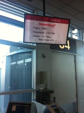 Nuestro vuelo a NY, estamos en hora