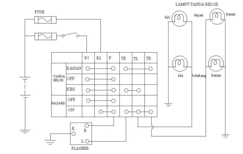 WIRING DIAGRAM lampu tanda belok | 66tech