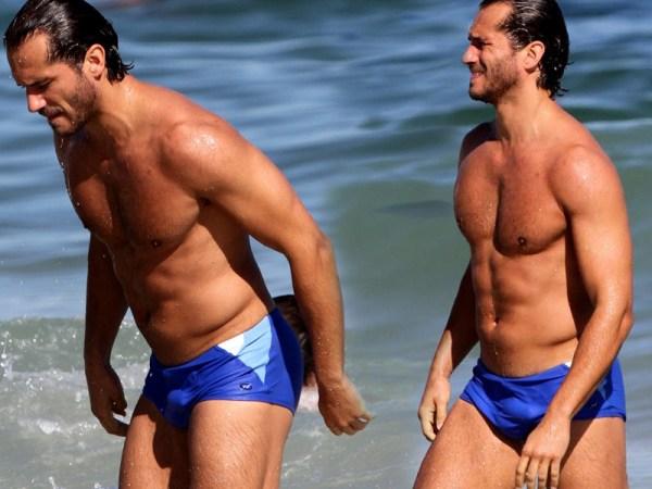 Paulo Rocha pau marcando na praia