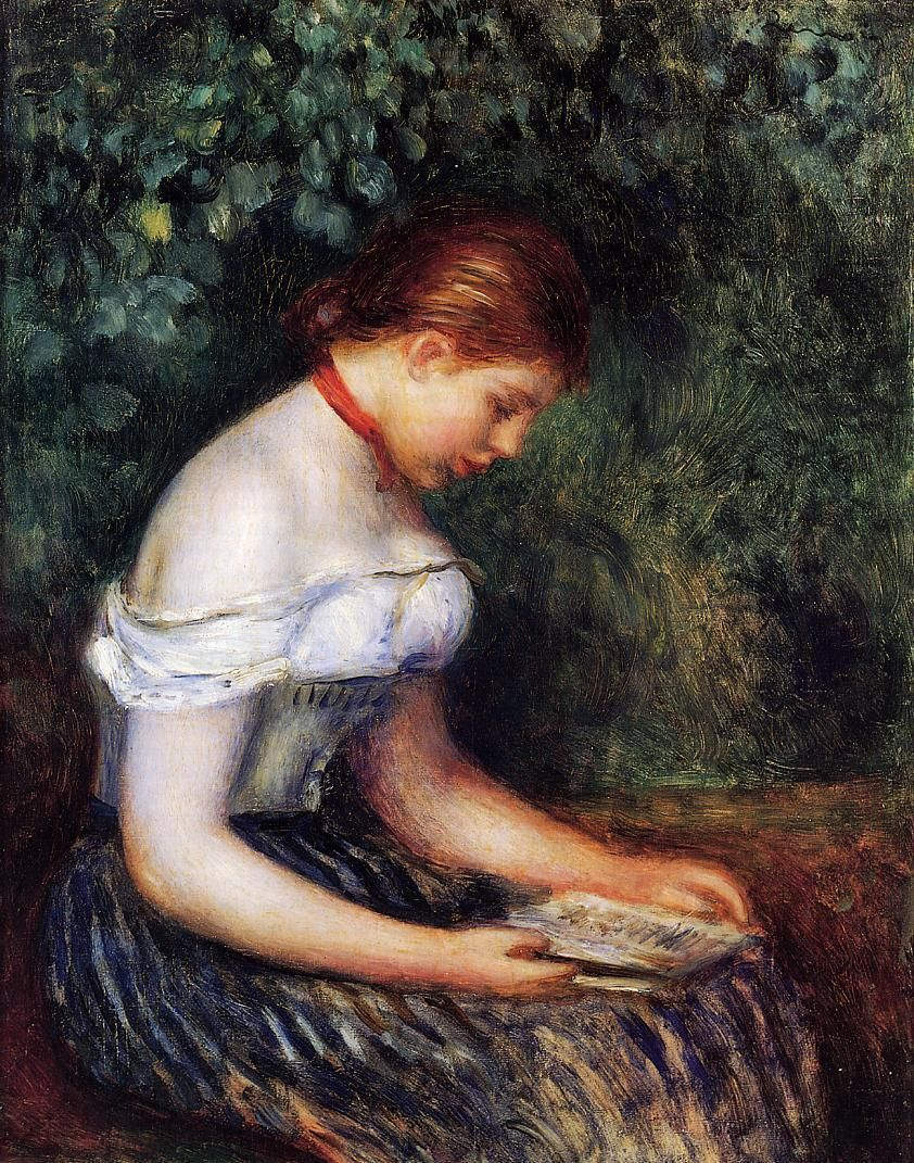 The Reader (Seated Young Woman), 1887. Pierre-Auguste Renoir (French, Impressionism, 1841-1919).