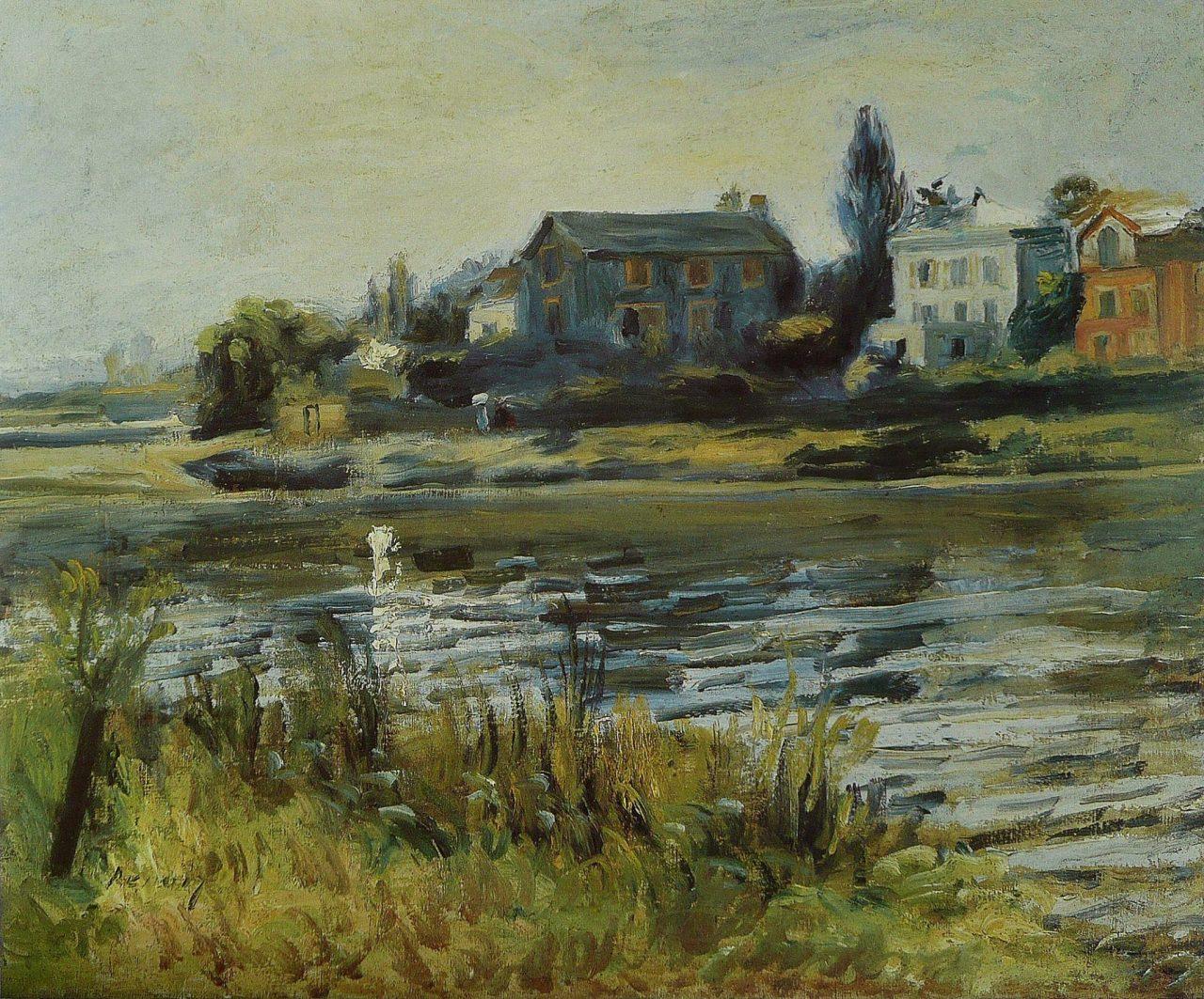 PIERRE AUGUSTE RENOIR. La Seine à Chatou