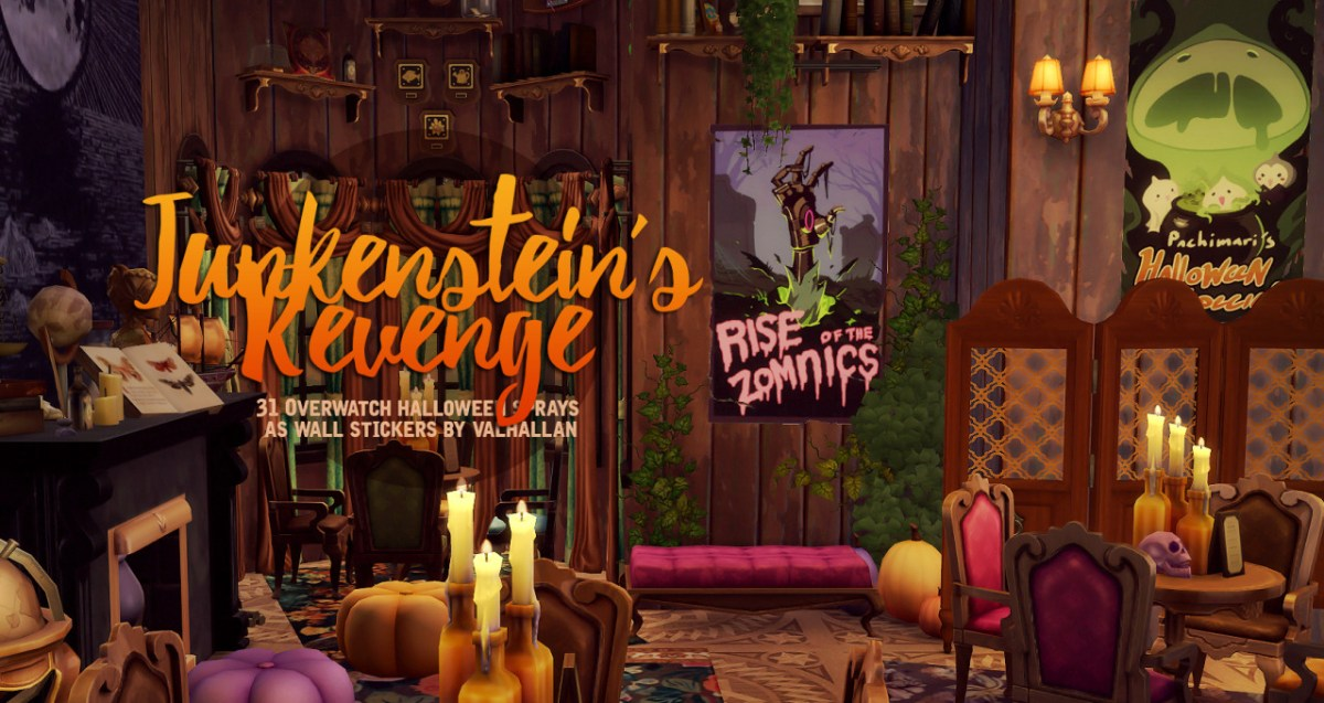 Sims 4 Overwatch Halloween CC