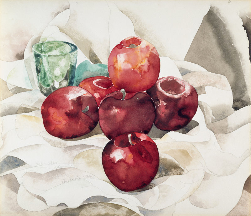 "igormaglica: "" Charles Demuth (1883-1935), Still Life: Apples and Green Glass, 1925. watercolor and graphite on wove paper, 30 x 35 cm """