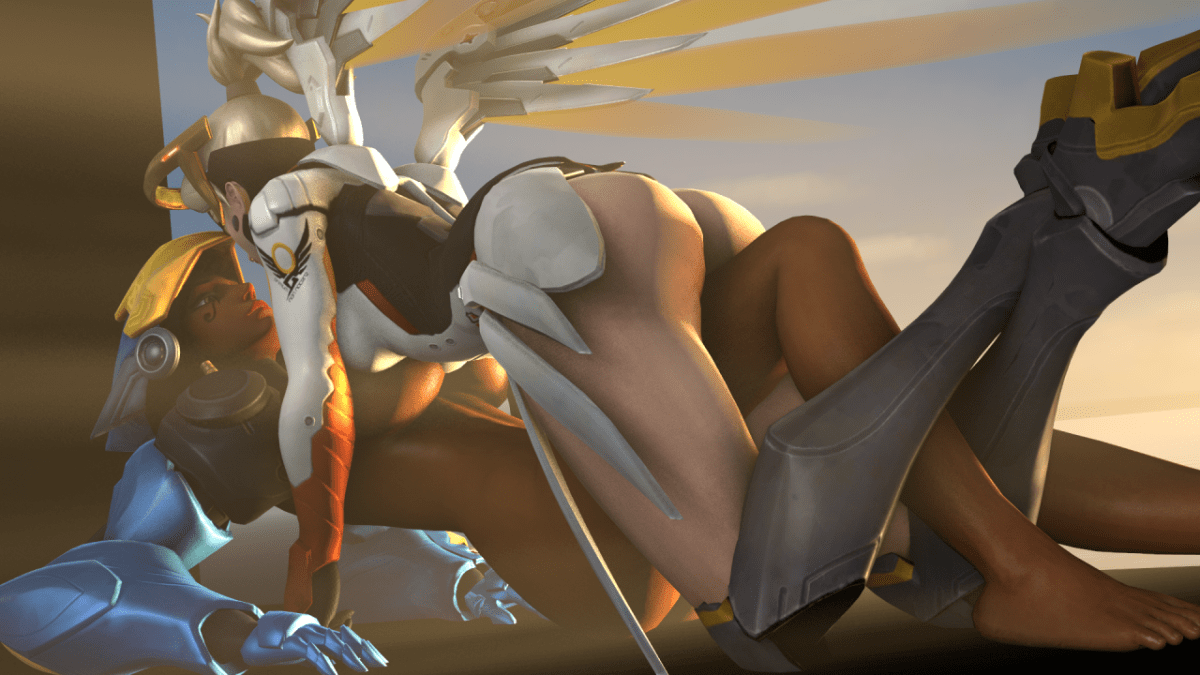 Pharah and Mercy 3D
