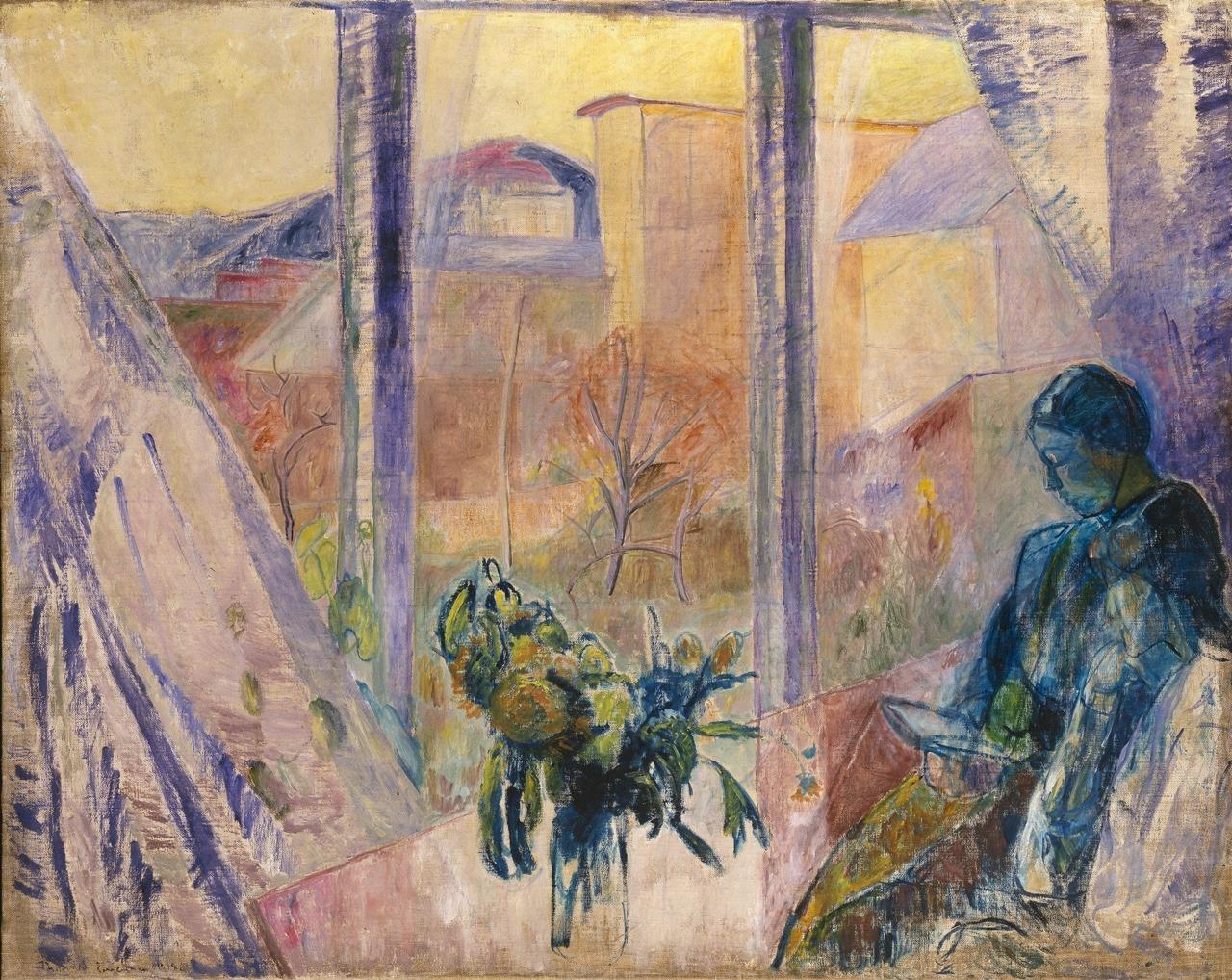 "terminusantequem: "" Thorvald Erichsen (Norwegian, 1868-1939), Gudrun and Agnes at the Window, 1918. Oil on canvas, 130,5 x 163,5 cm """