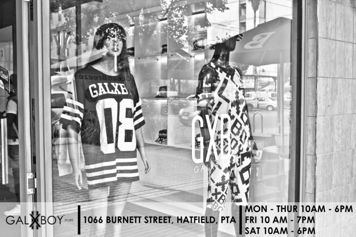 "galxboy: "" VISIT OUR STORE 1066 BURNETT STREET, HATFIELD, PTA MON - THUR 10AM - 6PM FRI 10AM - 7PM SAT 10AM - 5PM """