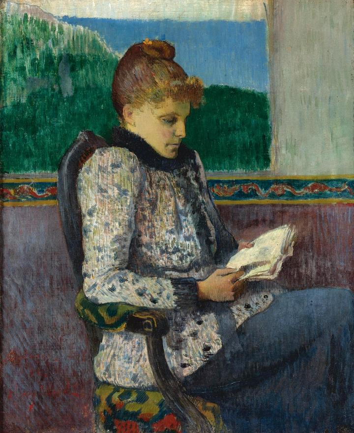 "igormaglica: "" Henry Moret (1856-1913), Lecture à la fenêtre / Reading at the window, 1892. oil on canvas, 45.5 x 38.5 cm """