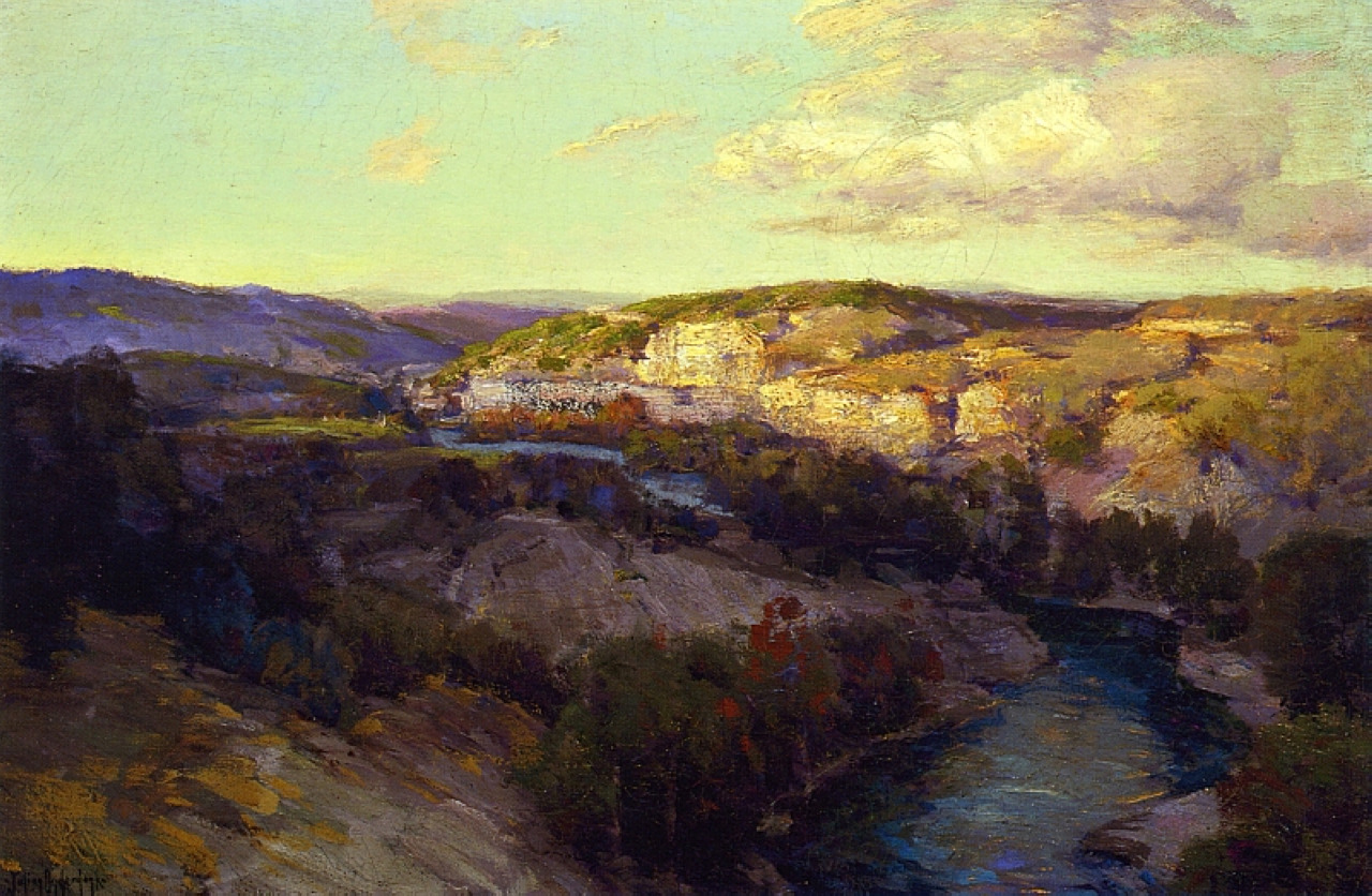 "radstudies: "" Julian Onderdonk (American, 1882-1922) Cliffs on the Guadalupe """