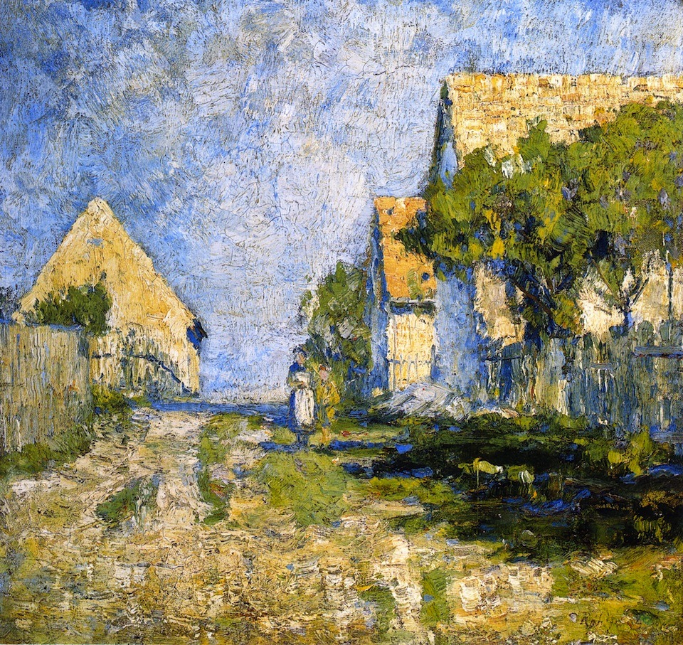 """german-expressionists: """" Christian Rohlfs, Sunny Houses, 1894 """""""