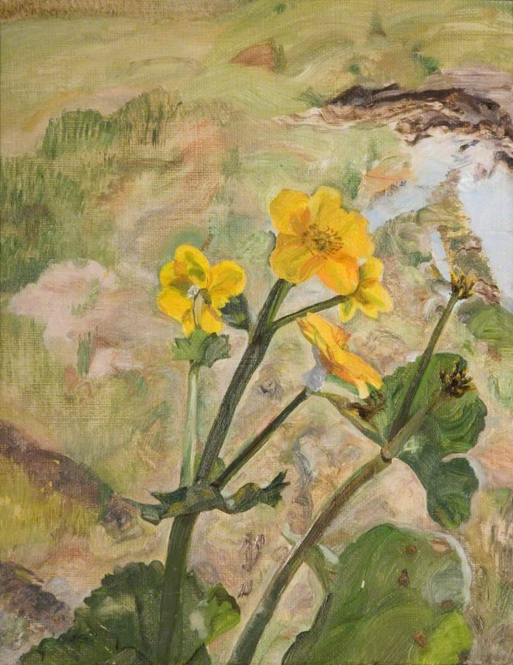 "thunderstruck9: "" Lucian Freud (British, 1922–2011), Kingcups, Souvenir of Glen Artney, 1967. Oil on canvas, 23 x 18.5 cm. """