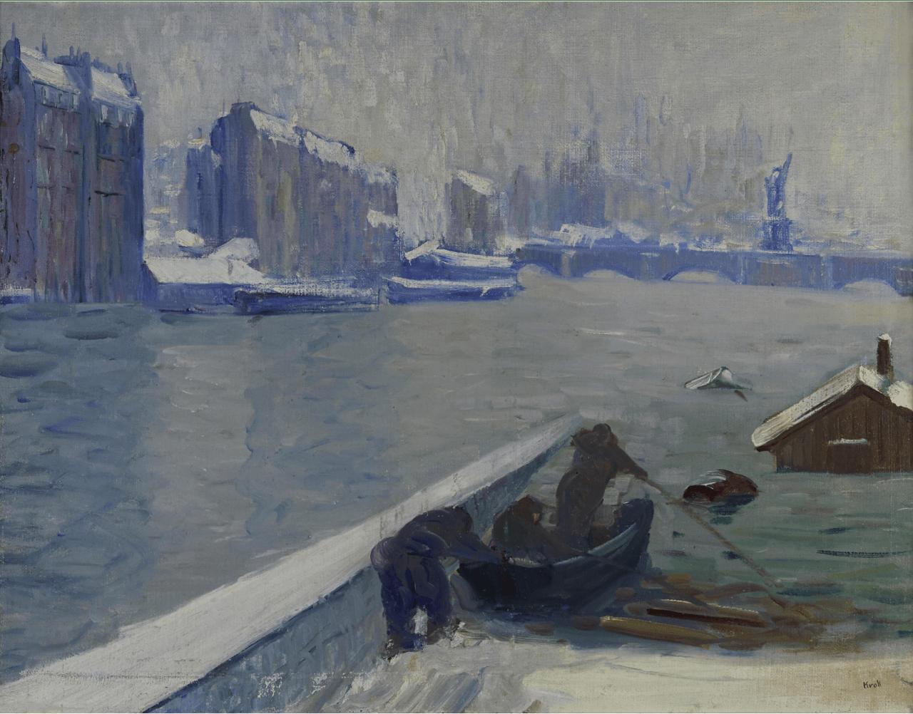 thunderstruck9: Leon Kroll (American, 1884-1975), Paris, Flooding of the Seine, c.1910. Oil on canvas, 28 x 36 in.