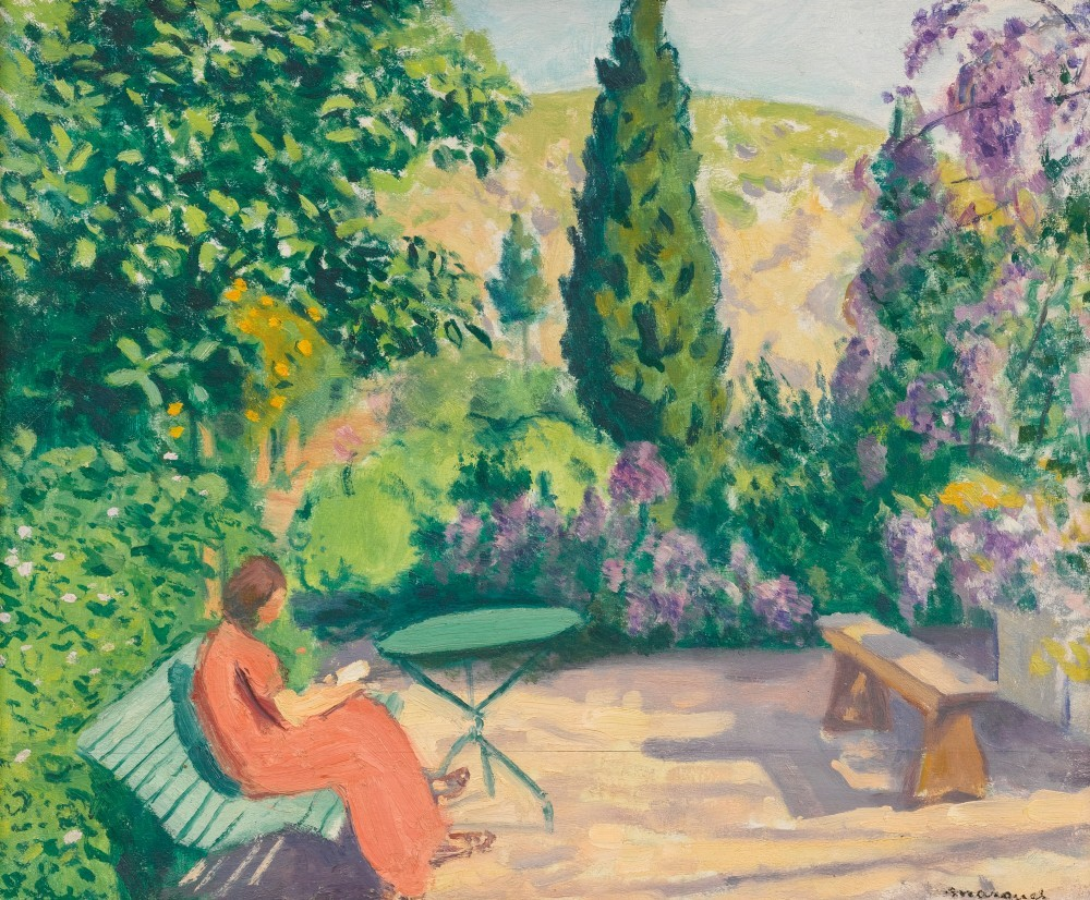 "huariqueje: "" La Lecture - Albert Marquet, 1943-45 French, 1875 - 1947 Oil on panel, 15 x 18 in., 38.1 x 45.7 cm """