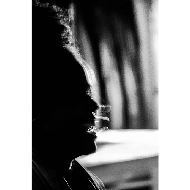Laugh. Akwaeke Emezi's #silhouette Writer, Nigerian. At the Electronic soundscapes concert. #MonochromeLagos #Monochrome #goetheinstitut #bnw #africancreatives #silhouette