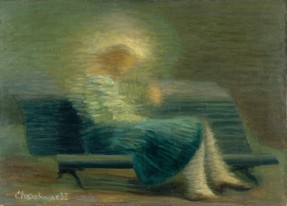 """amare-habeo: """" Serge Charchoune (Russian-French, 1888 - 1975) Reading girl, 1933 Oil on canvas, 45 x 64 cm """""""